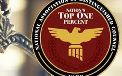 Attorney William Harvey Selected to Nation's Top 1% by The National Association Of Distinguished Counsel
