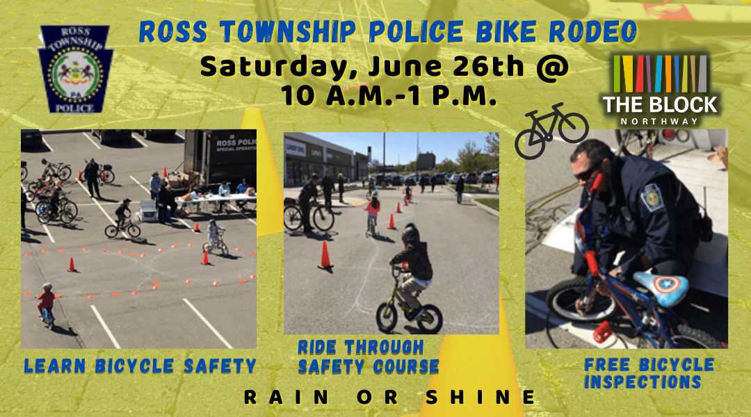 Ross Township Police & Block Northway to hold Bike Rodeo